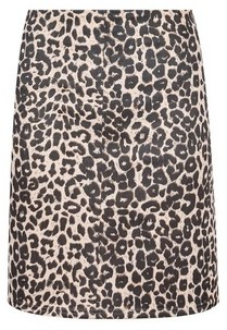 Dorothy Perkins Womens Multi Colour Animal Print Scuba Mini Skirt