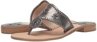 Jack Rogers Metallic Jacks (Pewter) Women's Shoes