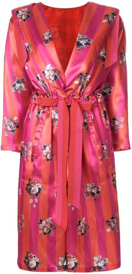 Golden Goose floral belted coat