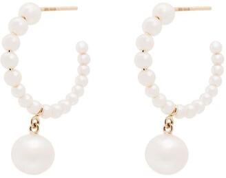 Sophie Bille Brahe 14kt yellow gold Boucle Marco pearl earrings