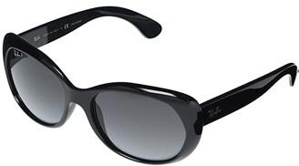 Ray-Ban RB4325 Square Sunglasses 59 mm (Striped Red/Havana) Fashion Sunglasses