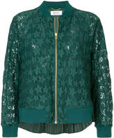 Muveil star lace bomber jacket