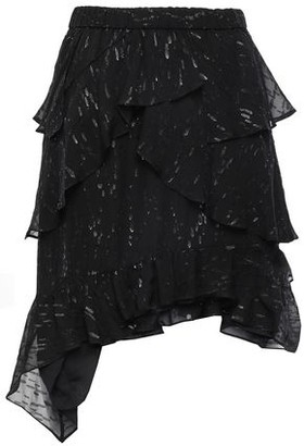 IRO Road Asymmetric Tiered Fil Coupe Georgette Skirt