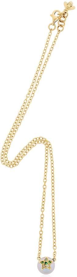 Carolina Bucci Fresh Water Pearl & Diamond Necklace