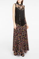 Giamba Embellished Fringed Maxi Dress