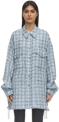 Faith Connexion Button Down Tweed Shirt Jacket