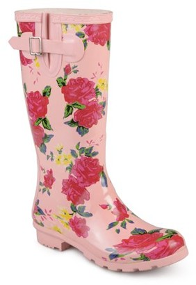 Brinley Co. Women's Rubber Patterned Rain Boots