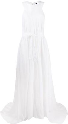 Ann Demeulemeester belted sleeveless cashmere dress