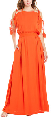Tory Burch Lace-Up Maxi Dress