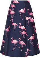 Draper James Printed Silk And Cotton-blend Midi Skirt