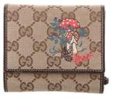 Gucci GG Embroidered Compact Wallet