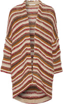 Maje Oversized striped jacquard-knit cardigan
