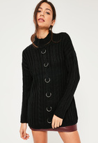 Missguided Black Ring Detail Sweater