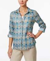 Charter Club Paisley-Print Linen Shirt, Only at Macy's