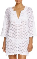 J Valdi Dot Lace Tunic Swim Cover-Up
