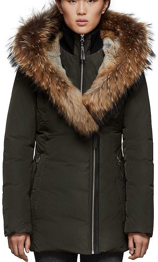 bab625cb402 Fur Collar Down Jacket - ShopStyle