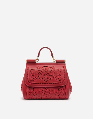 Dolce & Gabbana Medium Sicily Bag In Intaglio Leather