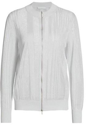Fabiana Filippi Lurex Pointelle Knit Bomber Jacket