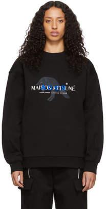 MAISON KITSUNÉ Black ADER error Edition A Fox Jumps Sweatshirt
