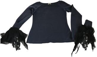 Philosophy di Alberta Ferretti Blue Wool Knitwear