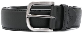 Canali Buckled Leather Belt