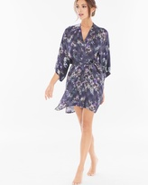 Soma Intimates Classics Silk Short Kimono Robe Wisteria