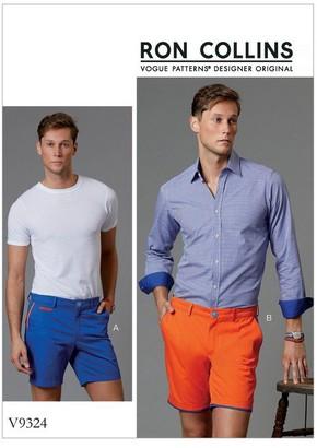 Vogue Men's Shorts Sewing Pattern, 9324