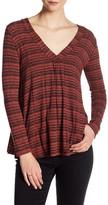 Lush Long Sleeve Striped Blouse
