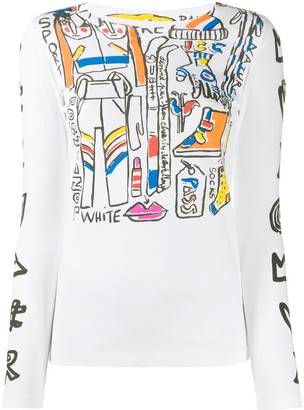 Rossignol Long Sleeve Abstract Print Top
