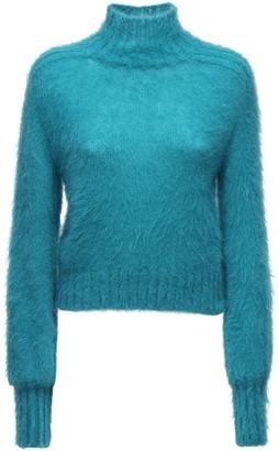 Alberta Ferretti Knit Mohair Blend Turtleneck Sweater