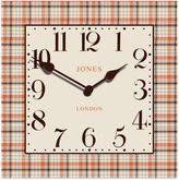 Jones® Clocks Tartan Square Wall Clock