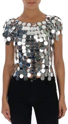 Paco Rabanne Metallic Sequinned Top