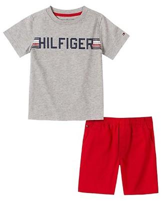 Tommy Hilfiger Little Boy's 2-Piece Graphic T-Shirt Cotton Shorts Set
