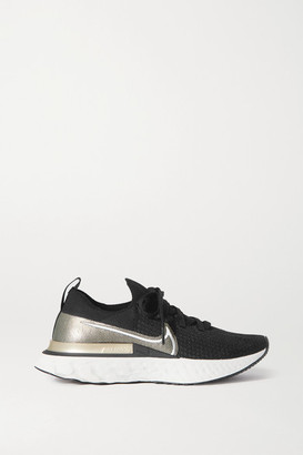 Nike React Infinity Run Premium Metallic Flyknit Sneakers - Black