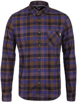 Timberland Blue Checked Flannel Slim Fit Shirt