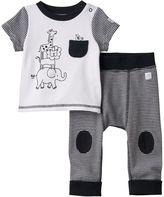 Boppy Baby Safari Graphic Tee & Striped Pants Set