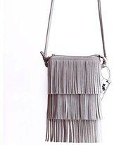 Badiya DreamBox Stylish Women's Tassel Design Leather Handbags Evening Bags