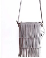 DreamBox Stylish Women's Tassel Design Leather Handbags Evening Bags
