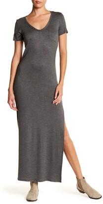 Velvet Torch Side Slit Knit Maxi Dress
