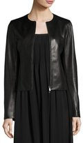 Vince Leather Zip-Front Jacket