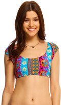 Hobie Sun Daze Stripe Crop Bikini Top 8140348