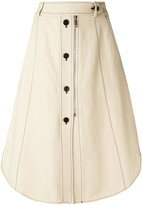 Sportmax buttoned midi skirt - women - Cotton/Linen/Flax/Viscose - 40