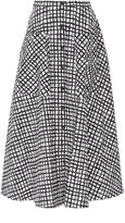 Saloni Cotton Printed Button Front Leah Skirt