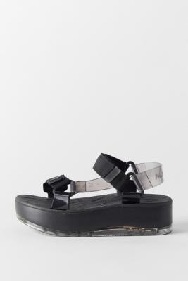 Melissa X Rider Papete Platform Sandals - Black UK 5 at Urban Outfitters