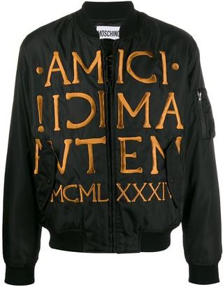 Moschino Roman embroidery bomber jacket