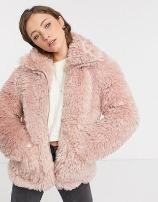 Topshop jacket in pink