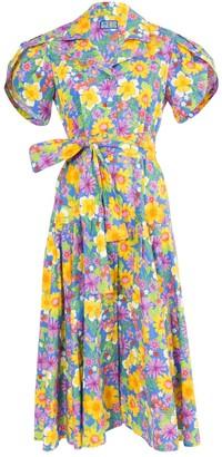 Lhd Glades Dress Floral Blue
