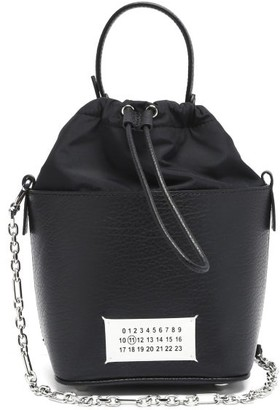 Maison Margiela 5ac Grained-leather Bucket Bag - Black