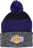'47 Los Angeles Lakers Black Static Pom Knit Hat