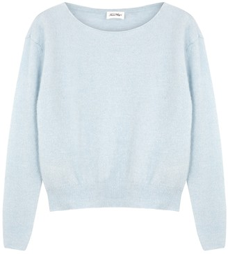 American Vintage Zabidoo Light Blue Fine-knit Jumper